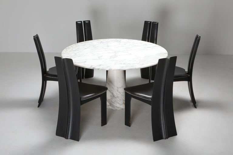 Calacatta Marble Dining Table by Angelo Mangiarotti for Skipper, 1972 3