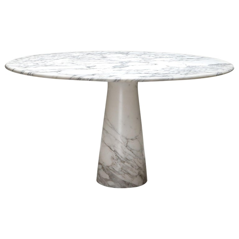 Calacatta Marble Dining Table by Angelo Mangiarotti for Skipper, 1972