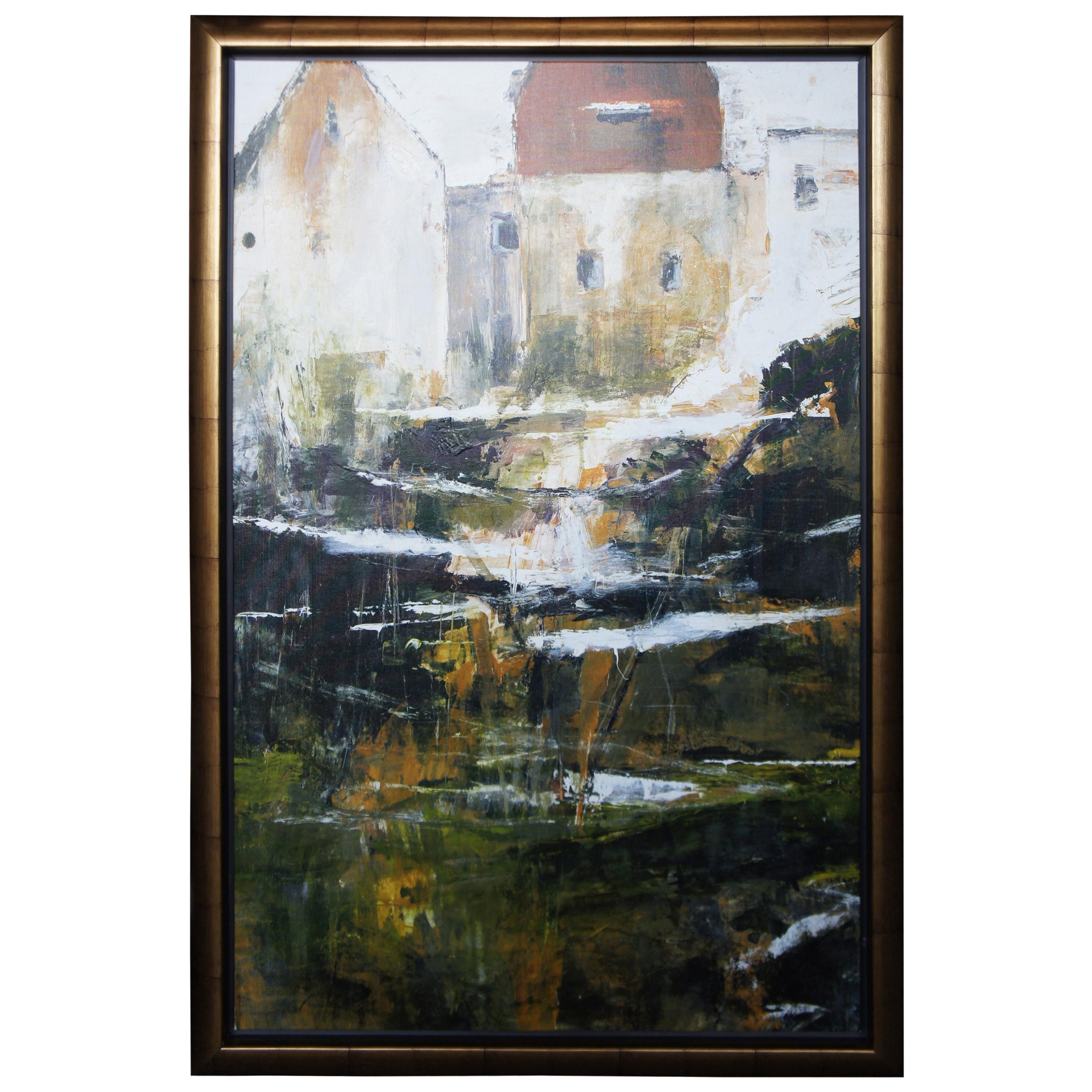 """""""Calais"""" by Paul Vernes Giclee Canvas Print 1/500 Abstract Landscape, France"""