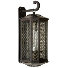 Calais Chamfered Exterior Wall Lantern in Darkened Bronze by Remains Lighting