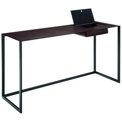 Calamo Desk in Black by Gabriele Rosa