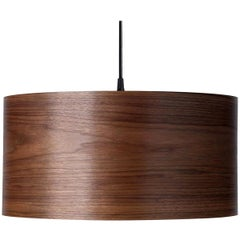 ARA Custom Walnut Wood Drum Chandelier Pendant