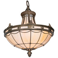 Caldwell Neoclassic Style Light Fixture with Interior Lights