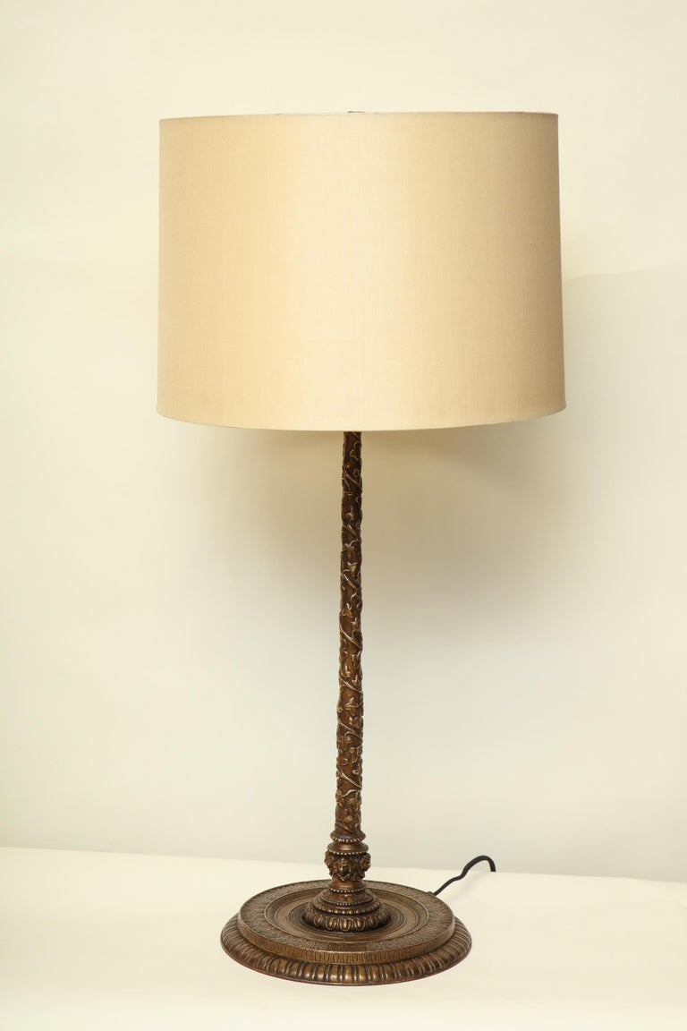 Caldwell Table Lamp Art Deco patinated bronze American, 1920s For Sale 2