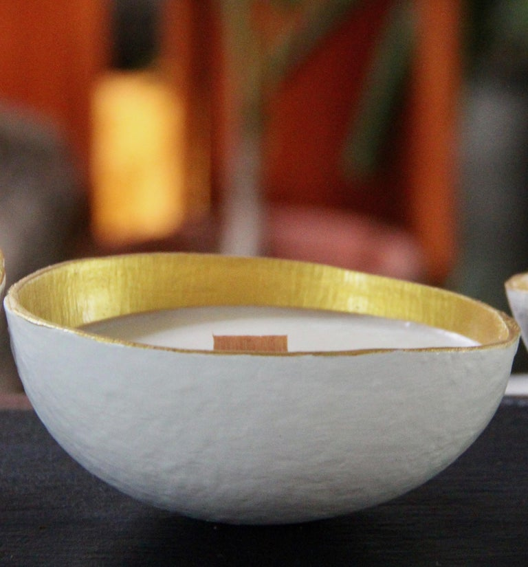 A beautiful scented candle presented in a unique handmade artisan ceramic jar. Infused with the finest botanical fragrance oils. Our premium candles are poured into luxury handmade artisan ceramic and are made with a blend of premium, natural Soy &