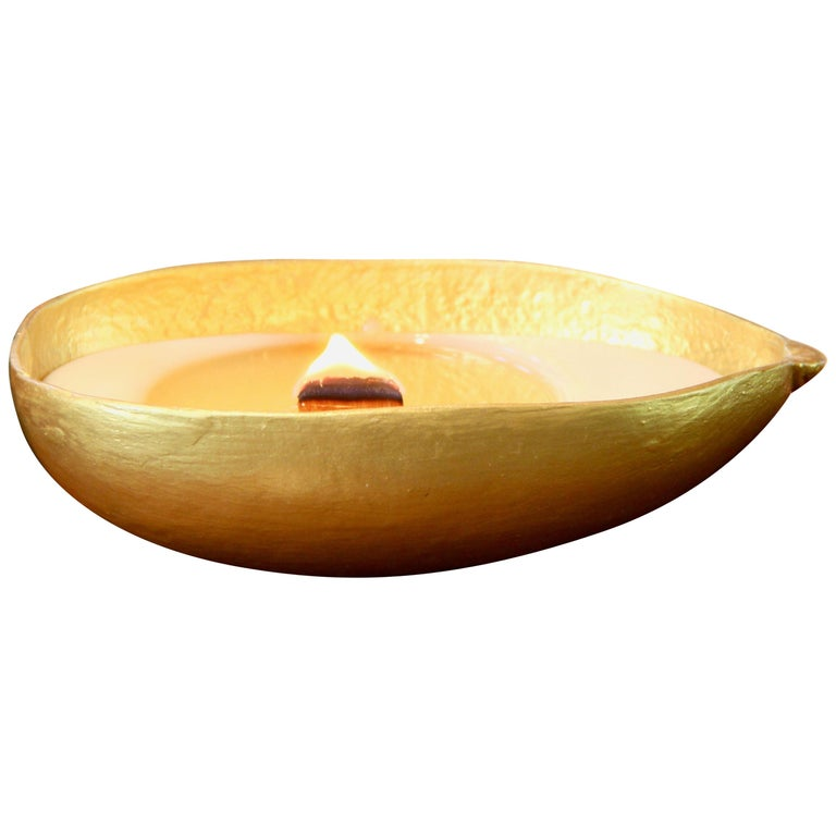 Calebasse Candle / Gold For Sale