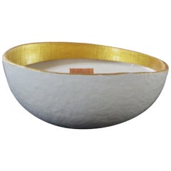 Calebasse Candle / White Gold