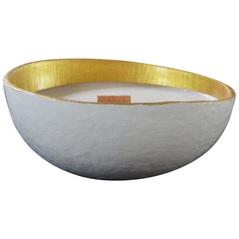 Calebasse Candle / White Gold For Sale