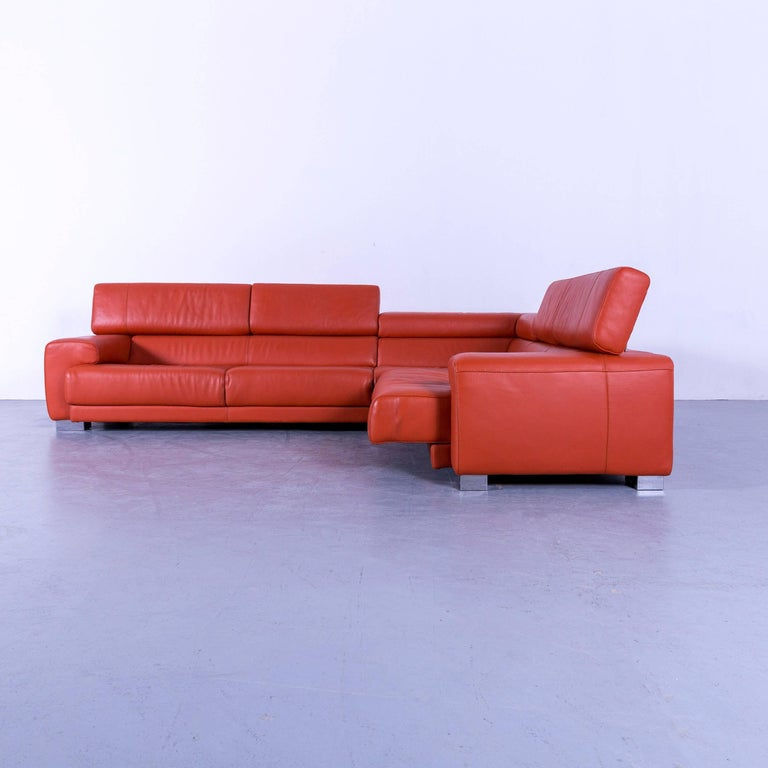Surprising Calia Italia Leather Corner Sofa Orange Electric Function At Beatyapartments Chair Design Images Beatyapartmentscom