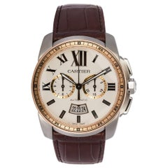 Calibre De Cartier Diver Stainless Steel and Rose Gold Watch W7100043 BNP