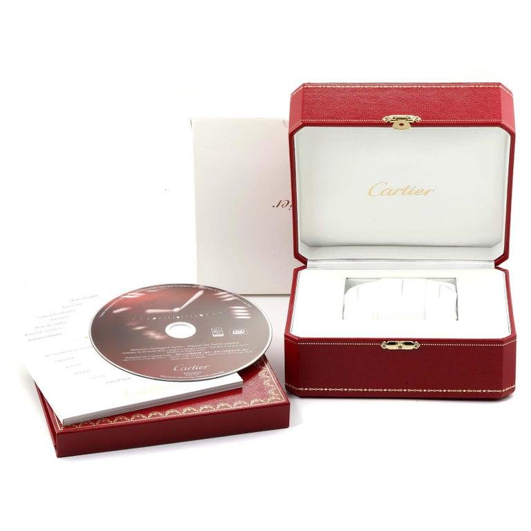 Calibre De Cartier Steel Chronograph Silver Dial Men's Watch W7100046 For Sale 5