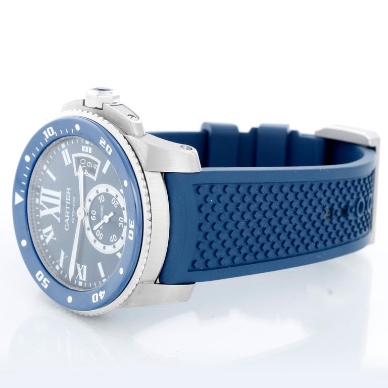 Calibre de Diver Cartier Men's Stainless Steel Watch WSCA0011 For Sale 1
