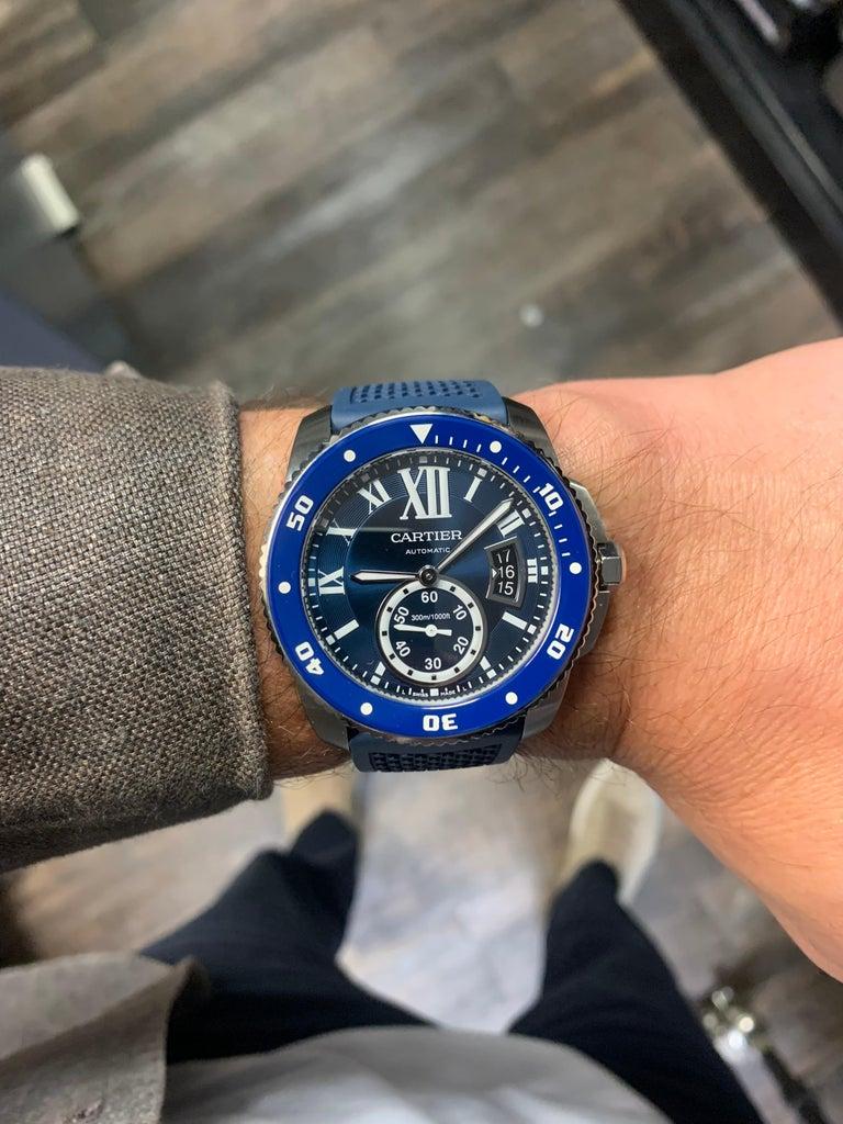 Calibre de Diver Cartier Men's Stainless Steel Watch WSCA0011 For Sale 2