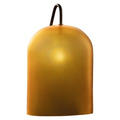 Calici Cilindro Murano Glass Table Lamp in Satin Amber by Salviati