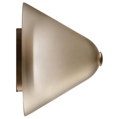 Calici Low Murano Glass Wall Lamp in Satin Kaiser Gray by Salviati