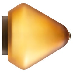 Calici Tall Murano Glass Wall Lamp in Satin Amber by Salviati
