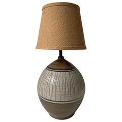 California Ceramic Designers Earthtone Pottery Table Lamp