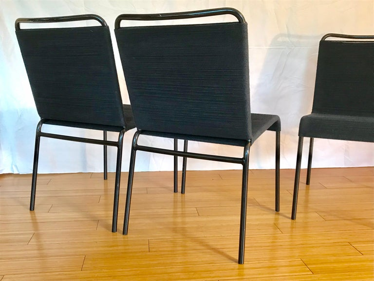 Mid-Century Modern California Design Cord Chairs, 1950s For Sale