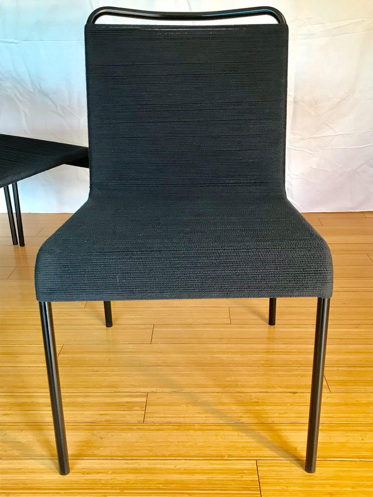 California Design Cord Chairs, 1950s In Good Condition For Sale In Los Angeles, CA