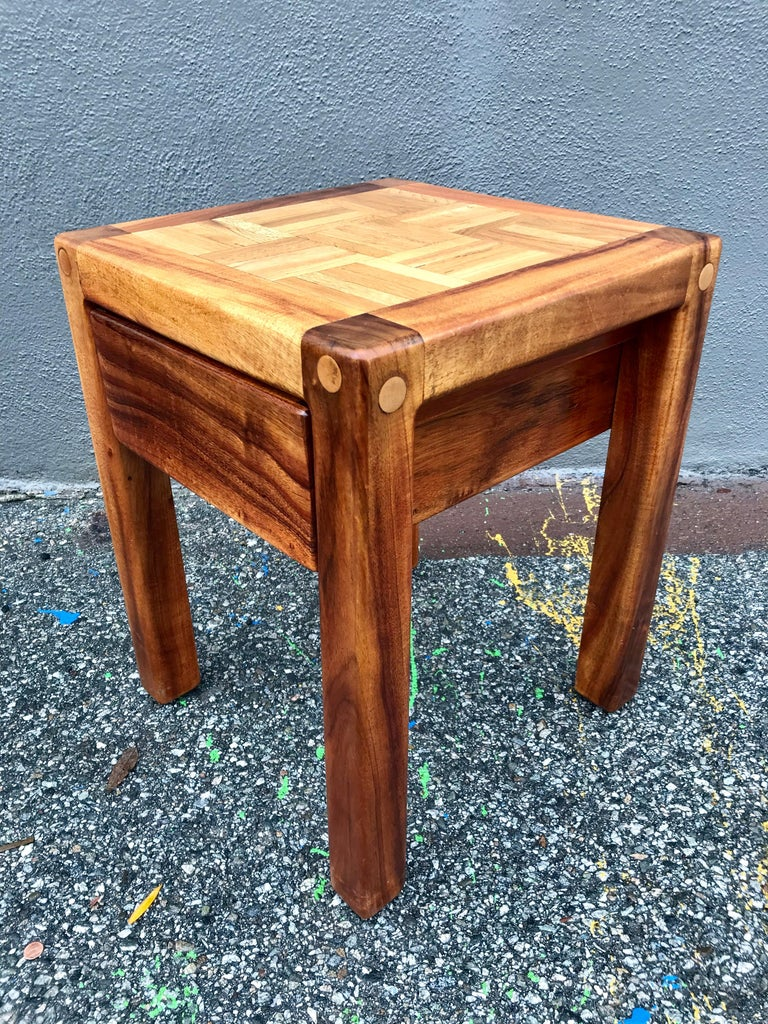 Lou Hodges Rustic End Tables In Good Condition For Sale In Los Angeles, CA