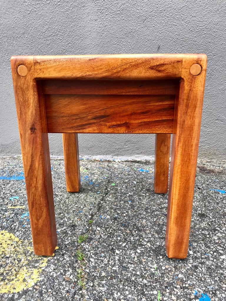 20th Century Lou Hodges Rustic End Tables For Sale