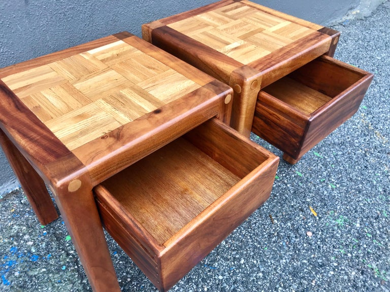 Lou Hodges Rustic End Tables For Sale 1