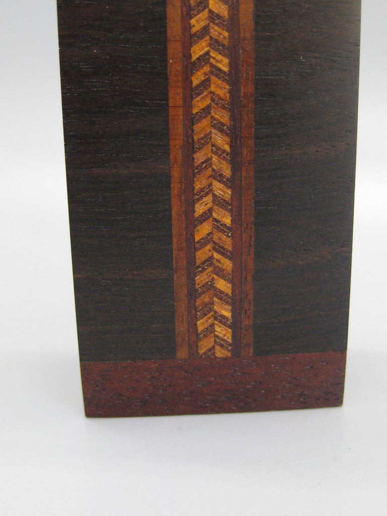 California Design Stephen Paulsen Cocobolo Rosewood Perfume Bottle Stash Box In Excellent Condition For Sale In San Diego, CA