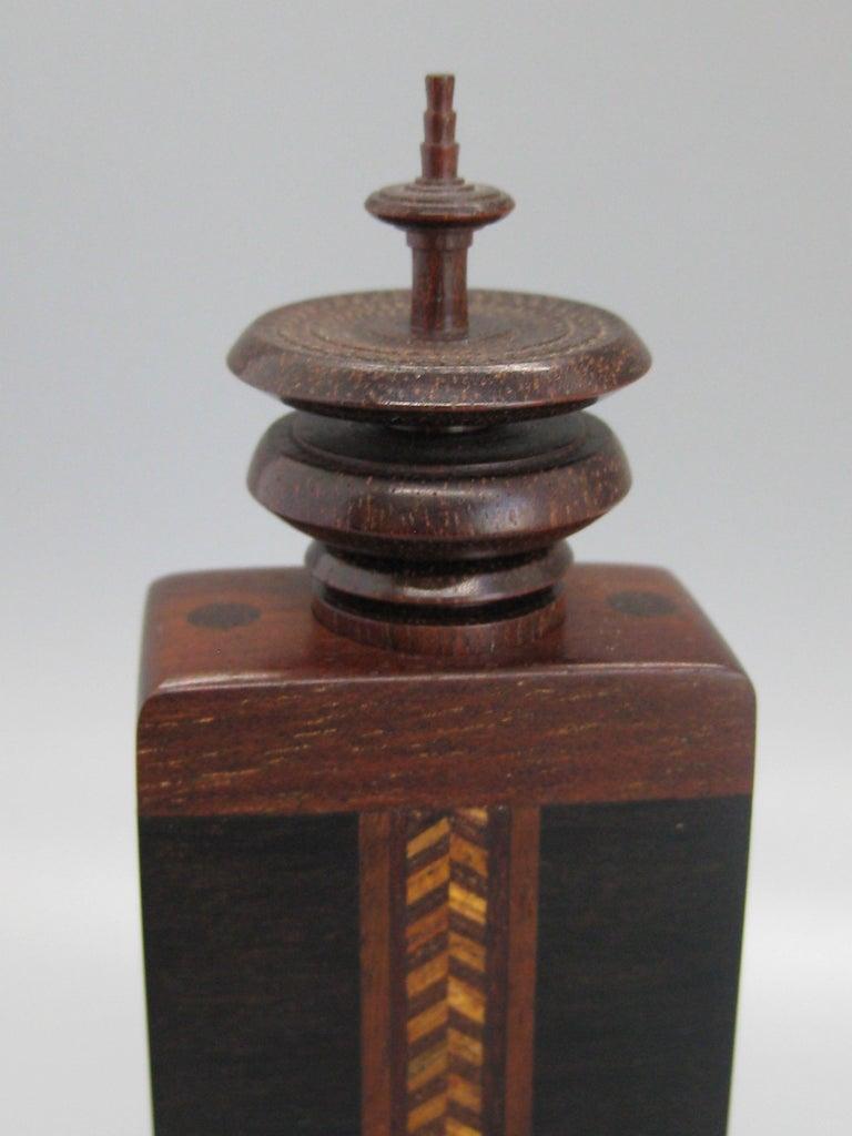 California Design Stephen Paulsen Cocobolo Rosewood Perfume Bottle Stash Box For Sale 3