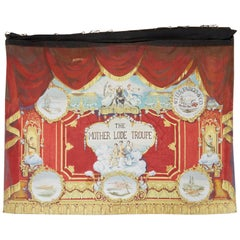 California Gold Rush Painted Stage Curtain after Charles Nahl
