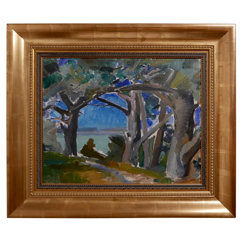 California Impressionist Landscape Painting by William Alexander Gaw