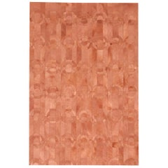 California Inspired Curvo Shrimp Cowhide Rug