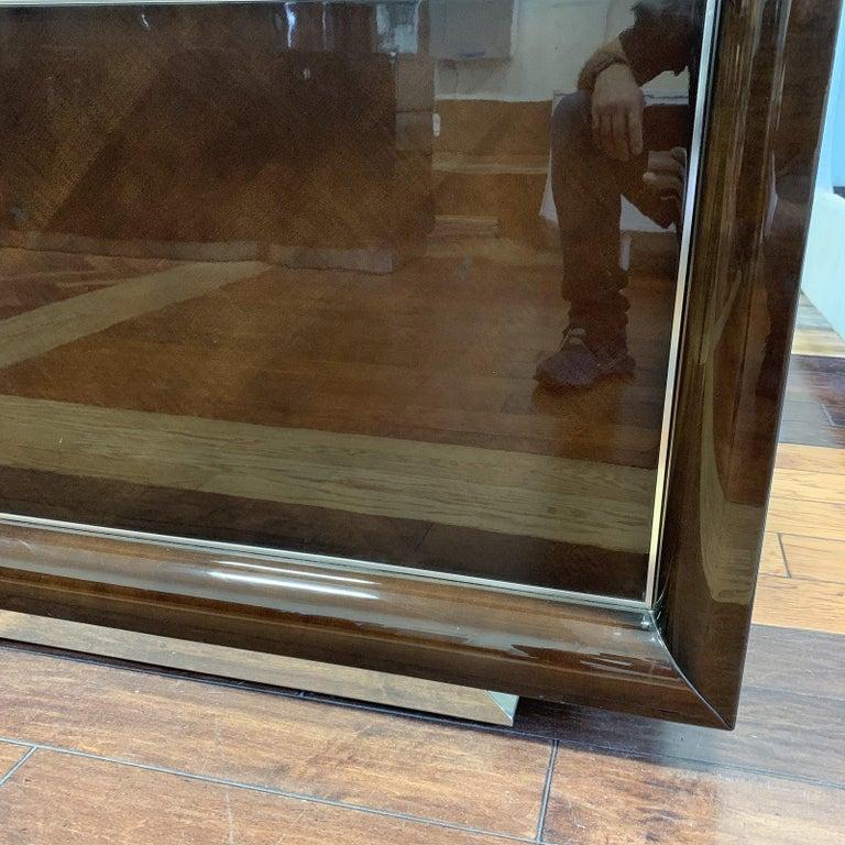 California King Giorgio Monte Carlo Collection Curly Sycamore & Chrome Finish For Sale 2