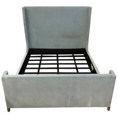 California King Restoration Hardware Grayson Fabric Bed with Footboard
