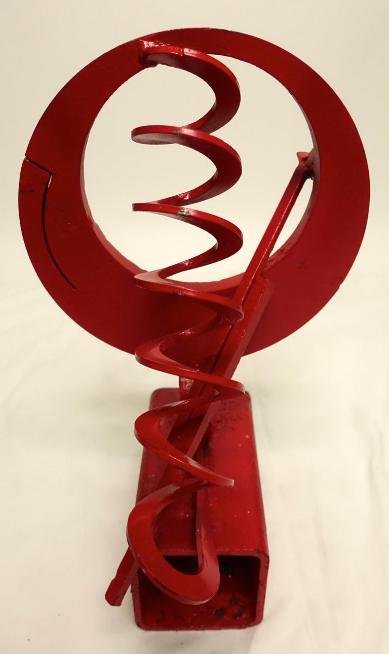 California Mid-Century Modern Abstract Iron Sculpture For Sale 6