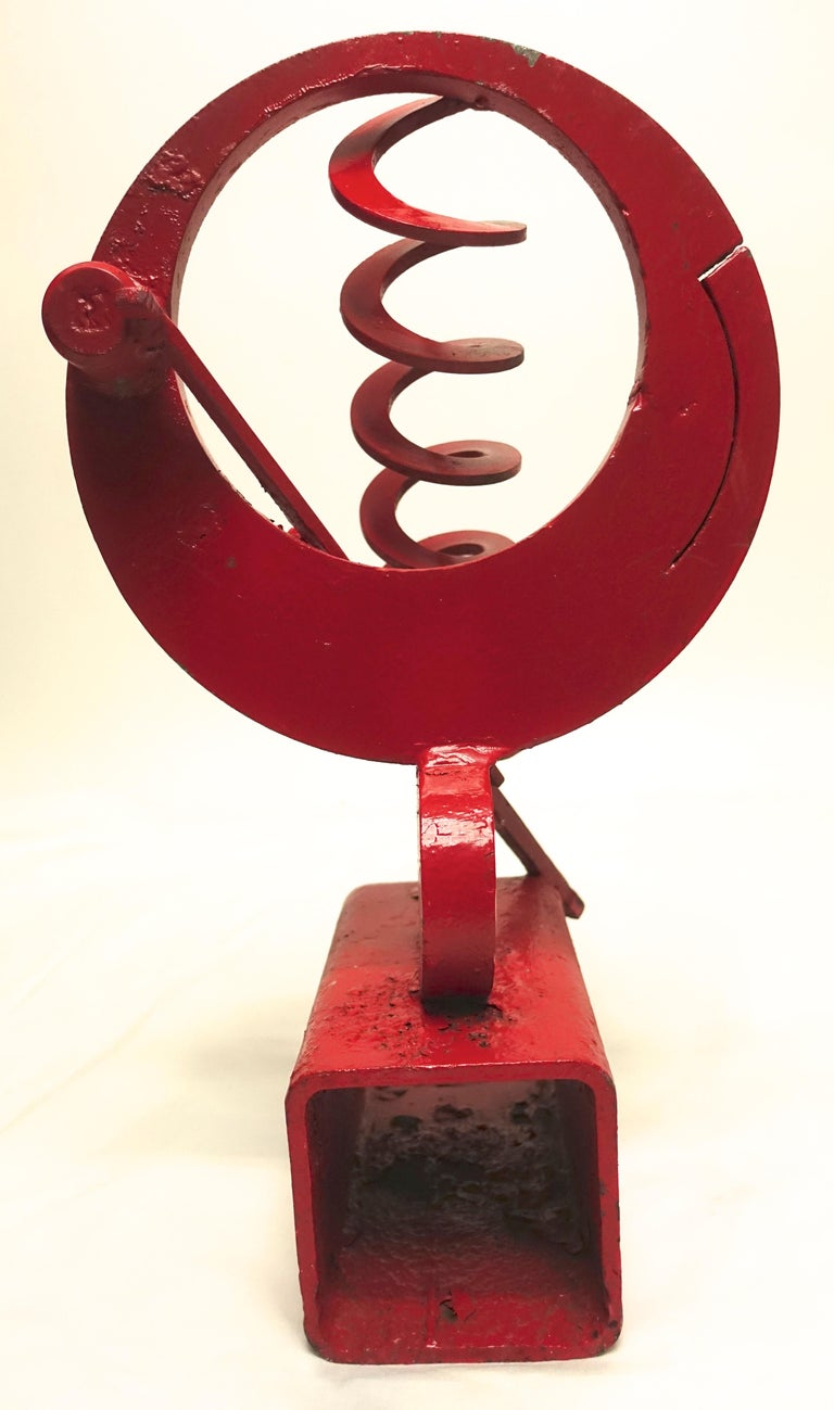 California Mid-Century Modern Abstract Iron Sculpture For Sale 7