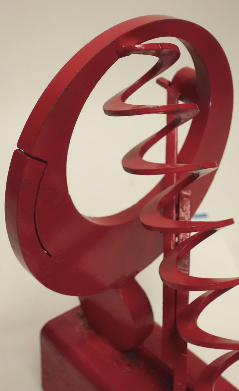 California Mid-Century Modern Abstract Iron Sculpture For Sale 1