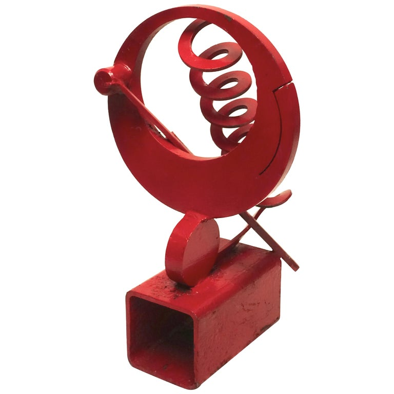 California Mid-Century Modern Abstract Iron Sculpture For Sale