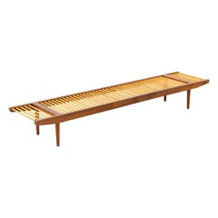 California Modern Large Dowel Bench by Milo Baughman for Glenn of California