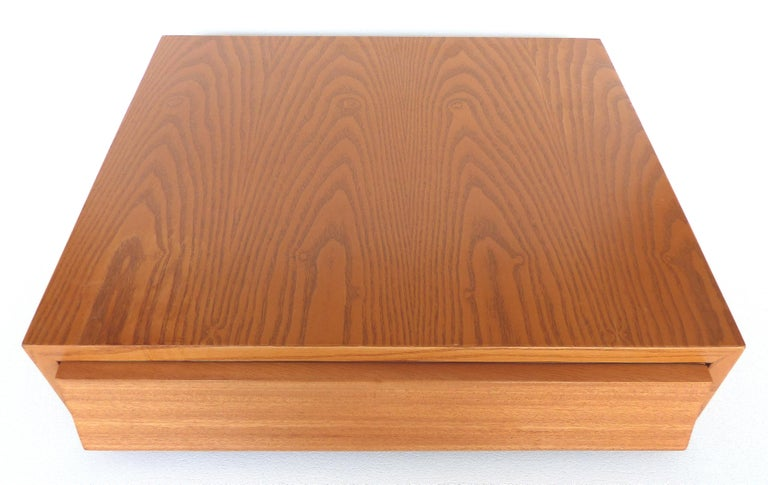 California Modern Paul Laszlo Brown-Saltman Nightstands, Wall Hung Floating  In Good Condition In Miami, FL