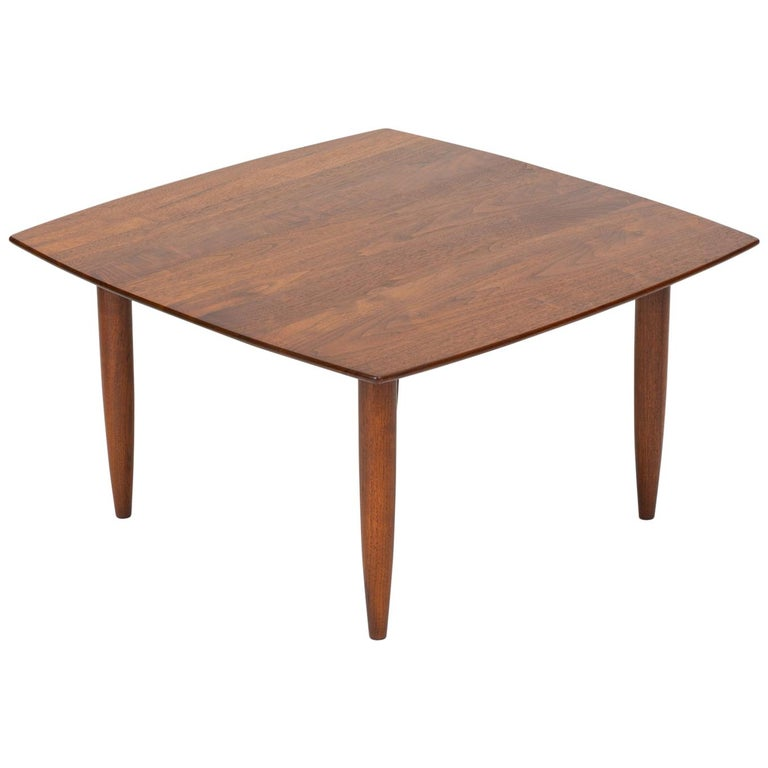 "California Modern ""Prelude"" Square Coffee Table by Ace-Hi For Sale"