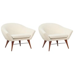 California Modernist Club Chairs by Karpen of California