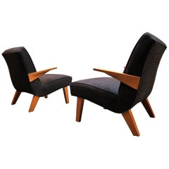 California Modernist Lounge Chairs in the Manner of Jens Risom or Dan Johnson