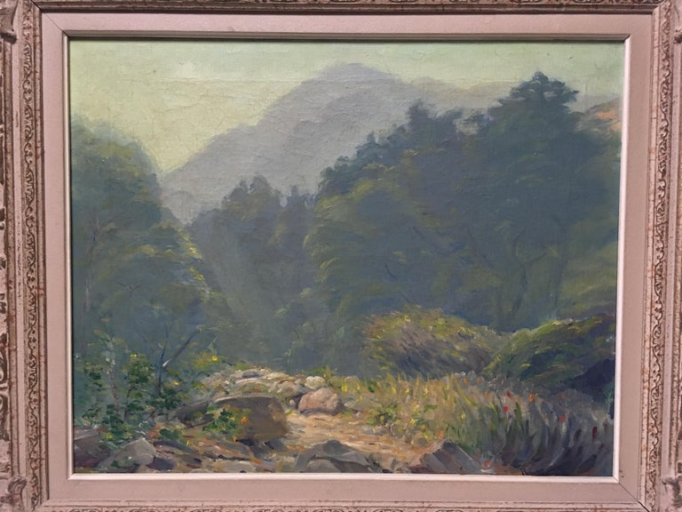 American California Oil on Canvas Painting, 19th Century For Sale