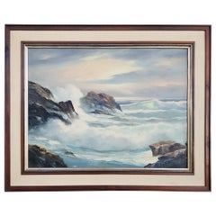 California Seascape Painting by Alfred Dupont