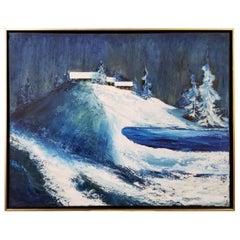 California Snow Scene Painting by Helen Tripi