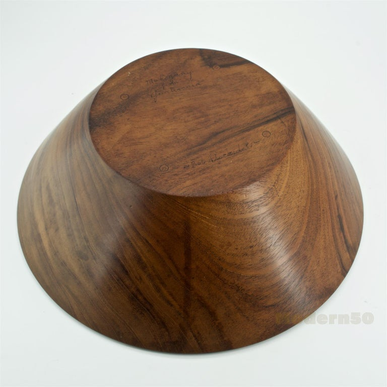 California Studio Craft Mahogany Centerpiece Fruit Bowl by Bob Stocksdale For Sale 3