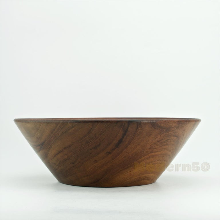 Mid-Century Modern California Studio Craft Mahogany Centerpiece Fruit Bowl by Bob Stocksdale For Sale