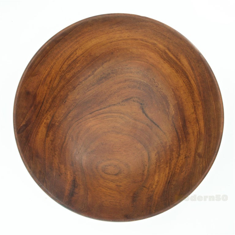 American California Studio Craft Mahogany Centerpiece Fruit Bowl by Bob Stocksdale For Sale