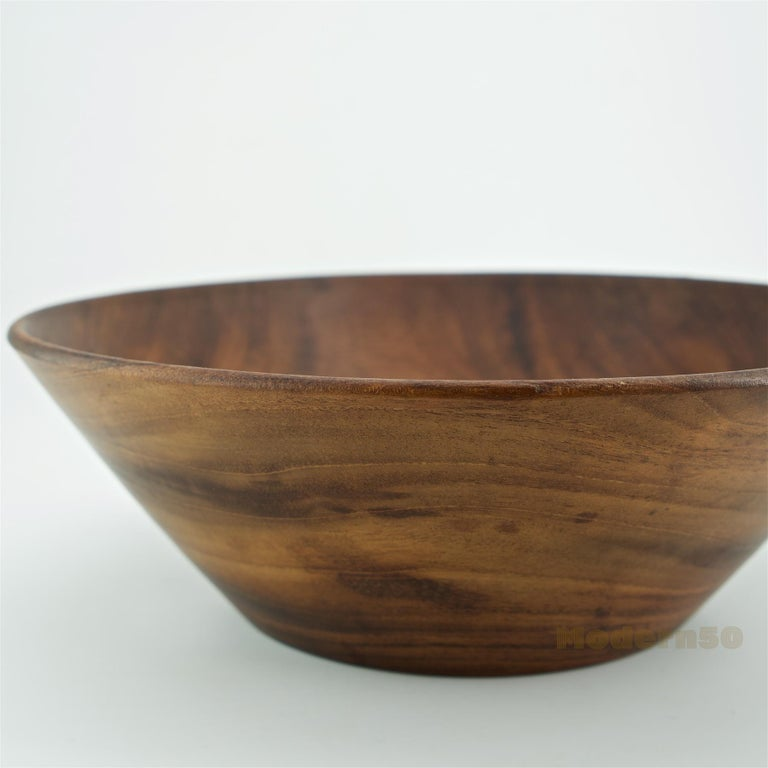 Turned California Studio Craft Mahogany Centerpiece Fruit Bowl by Bob Stocksdale For Sale