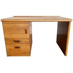 California Studio Design Solid Oak Desk